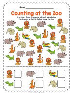 At the Zoo Counting Worksheet thumbnail