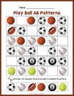Balls AB Pattern Worksheet thumbnail