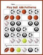 Balls ABB Pattern Worksheet thumbnail