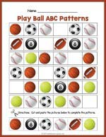 Balls ABC Pattern Worksheet thumbnail