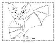 Bat Coloring Page thumbnail