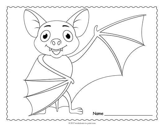 Bat coloring page for Printable bat coloring pages