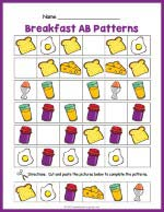 Breakfast AB Pattern Worksheet thumbnail