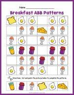 Breakfast ABB Pattern Worksheet thumbnail