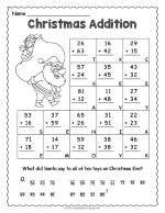 Christmas Addition Worksheet thumbnail