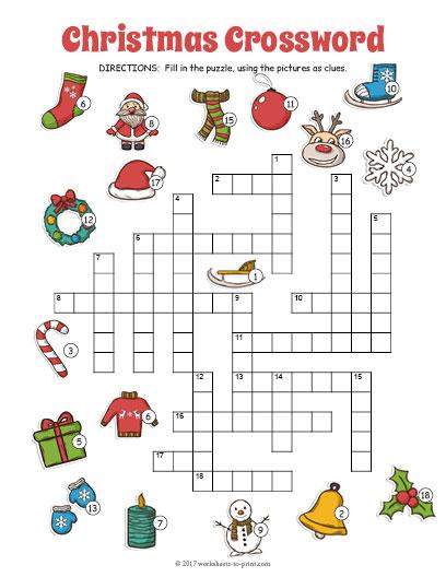 christmas crossword. Black Bedroom Furniture Sets. Home Design Ideas