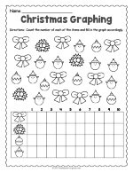 Christmas Graphing Worksheet thumbnail