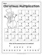 Christmas Multiplication Worksheet thumbnail