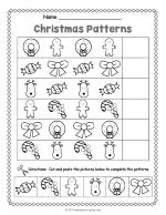 Christmas Pattern Worksheet thumbnail