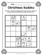 Christmas Sudoku.Christmas Worksheets
