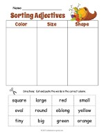 Cornucopia Adjective Sorting Worksheet thumbnail