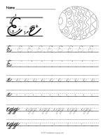 Cursive E Worksheet thumbnail