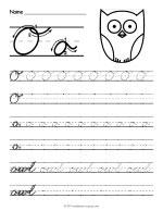 Cursive O Worksheet thumbnail