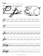 Cursive writing sheets for kindergarten