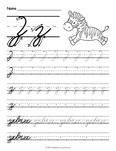 Cursive Z Worksheet