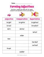 Fish Adjective Forms Worksheet thumbnail