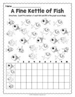 Fish Count and Graph Worksheet thumbnail