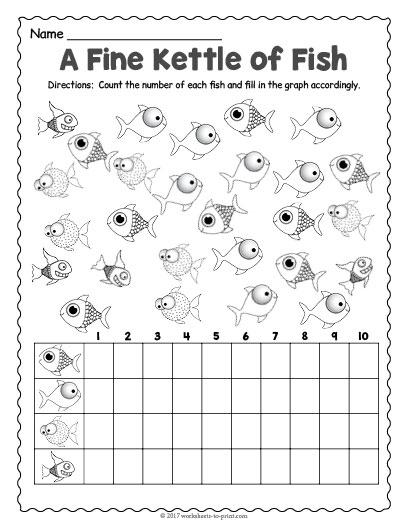 Fish Count Graph Worksheet