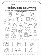 Halloween Counting Worksheet thumbnail