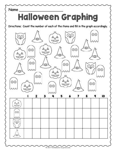 Free Halloween Worksheets 1st Grade : Halloween graphing worksheet