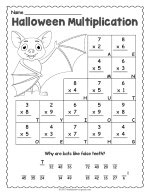 Halloween Multiplication Worksheet thumbnail