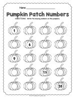 Halloween Number Worksheet thumbnail