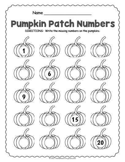 Halloween Number Worksheet