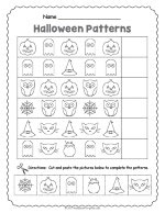 Halloween Pattern Worksheet thumbnail
