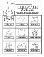 Halloween Word Scramble thumbnail