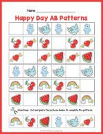 Happy Day AB Pattern Worksheet thumbnail
