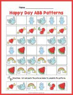 Happy Day ABB Pattern Worksheet thumbnail
