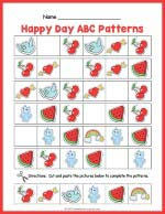 Happy Day ABC Pattern Worksheet thumbnail