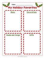 Holiday Writing Worksheet thumbnail