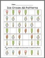 Ice Cream AB Pattern Worksheet thumbnail