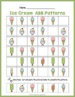 Ice Cream ABB Pattern Worksheet thumbnail