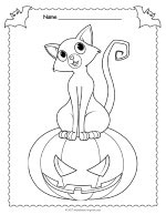 Jack O Lantern Coloring Page thumbnail