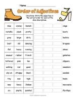 Order Of Adjectives Worksheet thumbnail