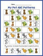 Pets ABC Pattern Worksheet thumbnail