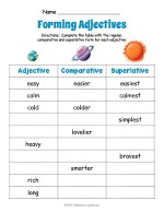 Planets Adjective Forms Worksheet thumbnail