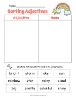 Rainbow Adjective Sorting Worksheet thumbnail