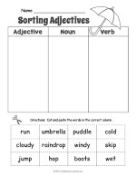Rainy Day Adjective Sorting Worksheet thumbnail