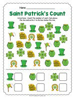 Saint Patricks Day Counting Worksheet thumbnail