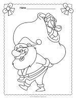 Santa Claus Coloring Page thumbnail