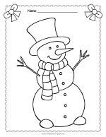 Snowman Coloring Page thumbnail