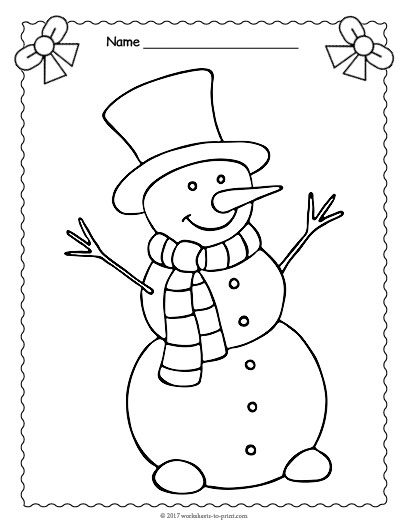 santa and snowman coloring pages - snowman coloring page