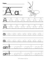 Tracing Letter A Worksheet thumbnail