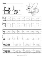 Tracing Letter B Worksheet thumbnail