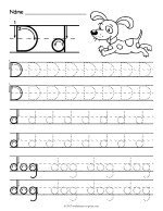 Tracing Letter D Worksheet thumbnail