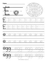 Tracing Letter E Worksheet thumbnail