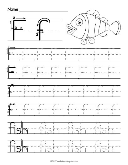 Tracing Letter F Worksheet